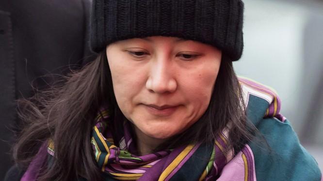 CFO Huawei Mạnh Vãn Châu bị bắt giữ tại Canada đầu tháng 12-2018. Ảnh: Bloomberg
