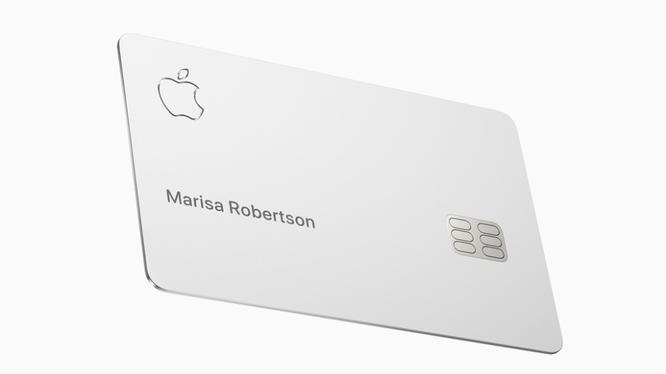 Thẻ tín dụng mới của Apple, Apple Card. Ảnh minh họa: CCN