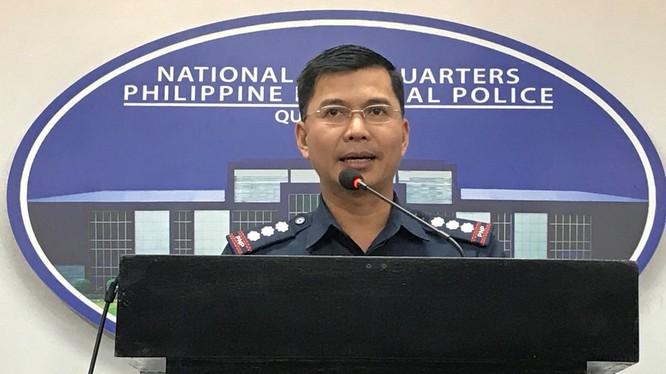 Phát ngôn viên Cảnh sát Quốc gia Philippines, Đại tá Benard Banac. Ảnh: Scoopnest