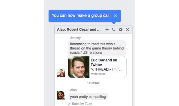 Hình ảnh cho thấy Facebook Messenger sắp có thêm tính năng gọi điện theo nhóm ở phiên bản máy tính