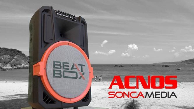 Beatbox có hình dáng giống như loa kéo nhưng công nghệ và phương thức hoạt động khác những chiếc loa di động đang bán trên thị trường