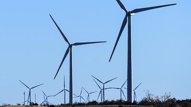 Một trang trại điện gió của Google tại Minco, Oklahoma (Mỹ). Ảnh: Spokesman