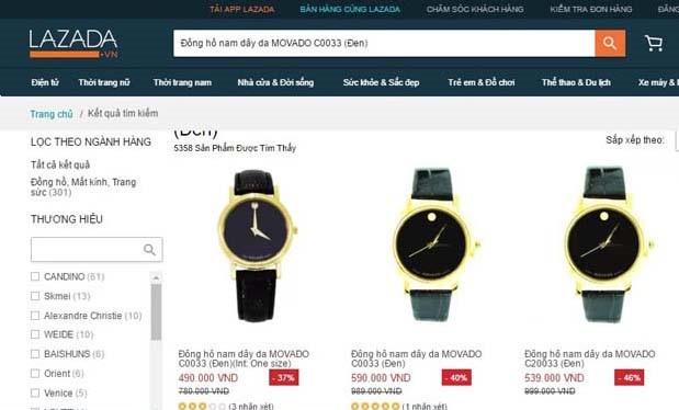 Các mặt hàng có giá rẻ đáng ngờ trên Lazada VN (ảnh chụp từ màn hình)