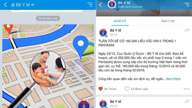 Bộ Y tế sử dụng Facebook và Zalo để đưa thông tin, hoạt động của Bộ đến người dân vì sự phổ cập của các công cụ này ở Việt Nam từ đó lan tỏa thông tin nhanh hơn.