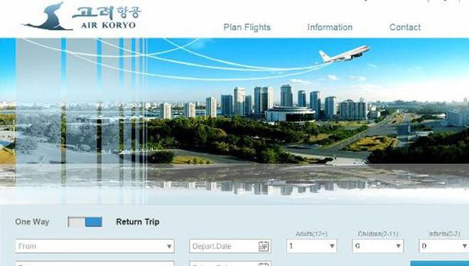 Trang đặt vé máy bay mang tên Air Koryo