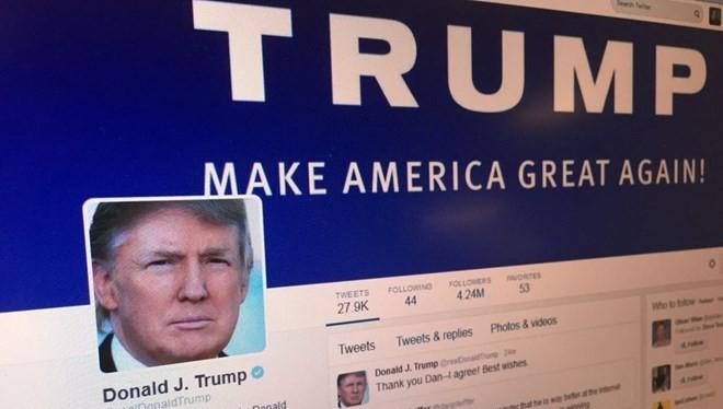 Trang mạng xã hội Twitter của Tổng thống đắc cử Donald Trump. (Nguồn: Government Technology)