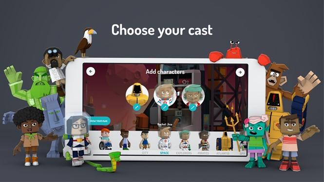 Toontastic 3D là ứng dụng làm phim hoạt hình dành cho trẻ em