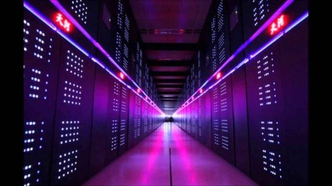 Bên trong gian đặt siêu máy tính