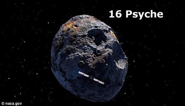 16 Psyche có trữ lượng sắt trị giá 10 tỷ tỷ USD. Ảnh: NASA.