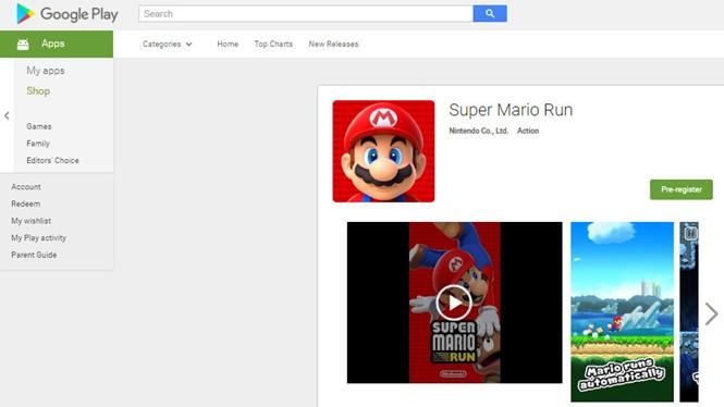 Super Mario Run đã xuất hiện trên Google Play ở dạng cho xem trước