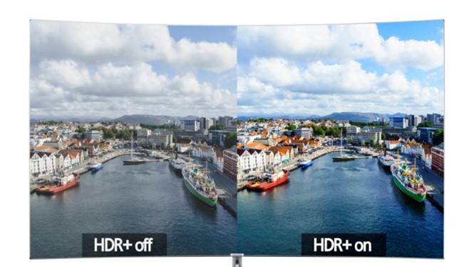 Sự khác biệt rõ ràng về độ tương phản và màu sắc giữa hai phiên bản không HDR và có HDR. Trải nghiệm hình ảnh thật sự chính là HDR.