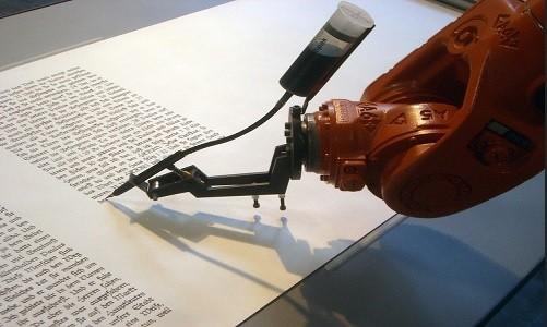 Robot Trung Quốc hoàn thành bài báo trong một giây. Ảnh minh họa: Mirko Tobias Schaefer/Gastev.
