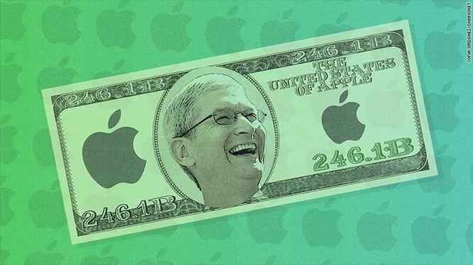Apple hiện có tới 246,1 tỉ USD tiền mặt