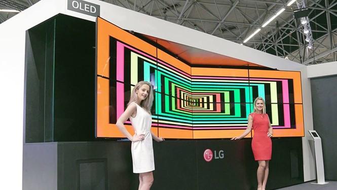 Nhiều giải pháp màn hình tiên tiến được LG trình diễn tại ISE 2017. ảnh LG