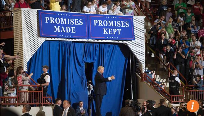 Tổng thống Donald Trump phát biểu tại cuộc mít tinh