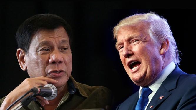 Tổng thống Mỹ Donald Trump và Tổng thống Philippines Duterte