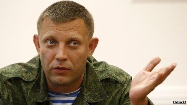 Người đứng đầu Cộng hòa nhân dân Donetsk tự xưng Alexander Zakharchenko. (Nguồn: Reuters)