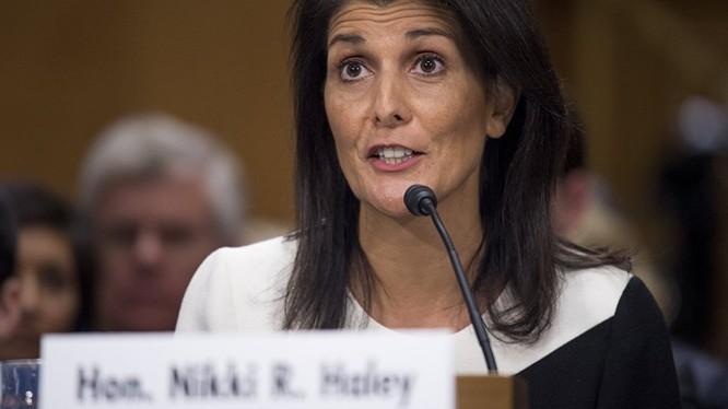 Bà Nikki Haley - Đại diện thường trực của Mỹ tại Liên hợp quốc