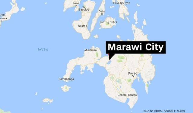 Thành phố Marawi trên bản đồ
