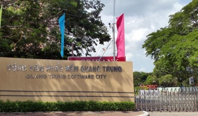 Cổng vào Công viên phần mềm Quang Trung