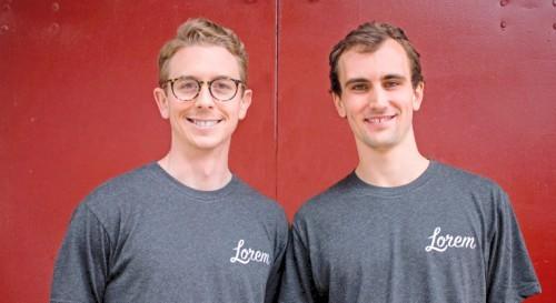 Hai nhà đồng sáng lập Lorem: Charlie Fogarty và Sam Wilcoxon.