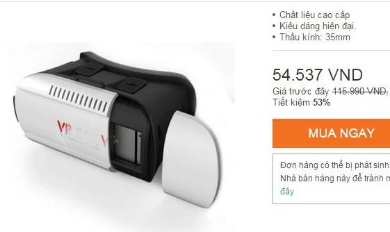 Một loại kính có giá chỉ hơn 50.000 đồng.