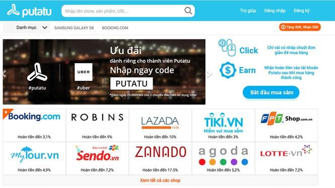 Vũ Quang Tám và mạng mua sắm thông minh Putatu.com ẢNH: X.P