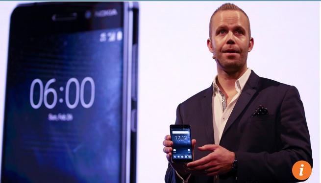 Juho Sarvikas, Giám đốc sản phẩm của Nokia – HMD giới thiệu điện thoại Nokia 6 tại Barcelona, Spain Tháng 2/2017
