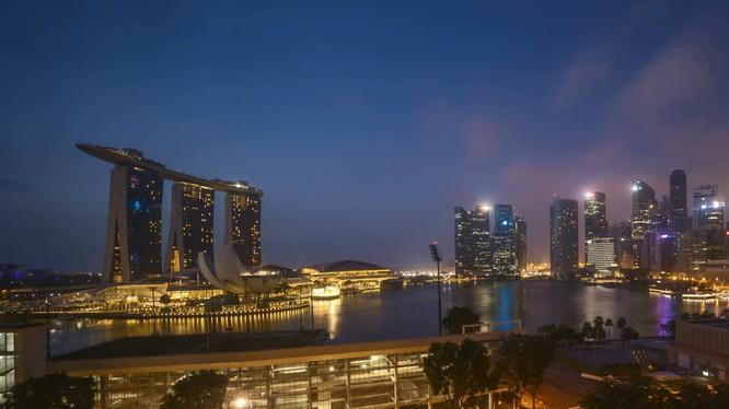 Toàn cảnh vịnh Marina, Singapore