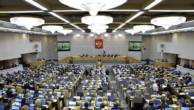 Toàn cảnh một phiên họp Quốc hội Nga ở Moskva. (Nguồn: AFP/TTXVN)