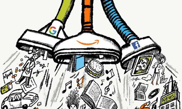 Sức mạnh và tầm ảnh hưởng khủng khiếp của Google, Amazon và Facebook (tranh minh họa của Robert Neubecker)