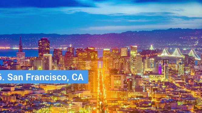 Thành phố San Francisco giữ vị trí thứ 6