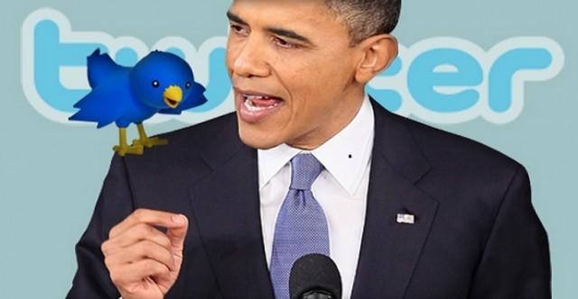 Cựu Tổng thống Mỹ Barak Obama với biểu tượng của Twitter