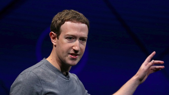 Facebook CEO Mark Zuckerberg. Ảnh Getty