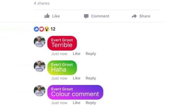 Các bình luận sẽ có thể thêm màu nền