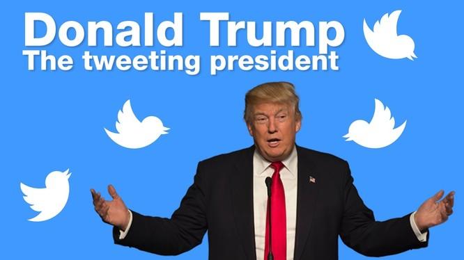 Tổng thống Mỹ Donald Trump thường xuyên dùng Twitter để truyền tải các thông điệp cũng như chính sách. Nguồn Internet