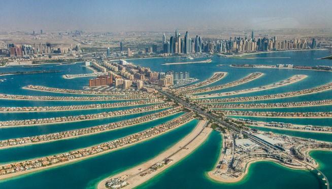 Đảo nhân tạo hình lá cọ ở Dubai. Ảnh http://vietnamtourism.com.vn