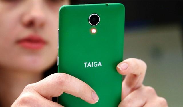 Mẫu smartphone chốn nghe trộm có tên TaigaPhone của Nga vừa ra mắt có giá khoảng 260 USD - Ảnh: ECONOMIC TIMES