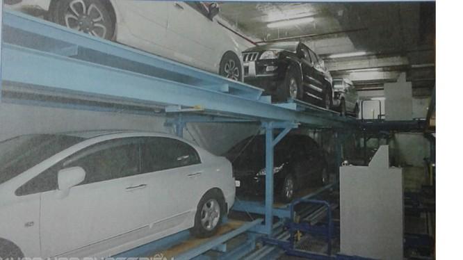 Hệ thống đỗ xe ô tô tự động theo công nghệ tầng di chuyển được lắp đặt tại 15 Bis Lý Nam Đế, Hà Nội