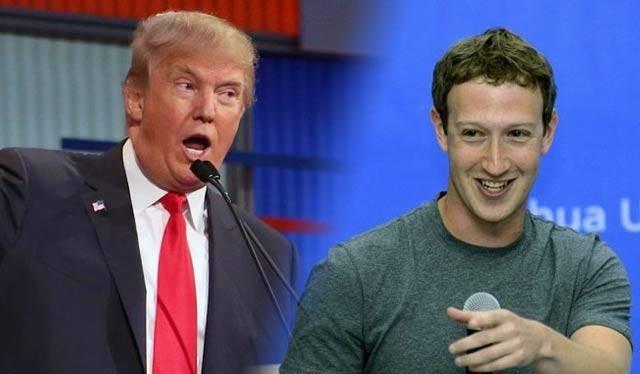 Tổng thống Mỹ Donald Trump (trái) và CEO Facebook Mark Zuckerberg