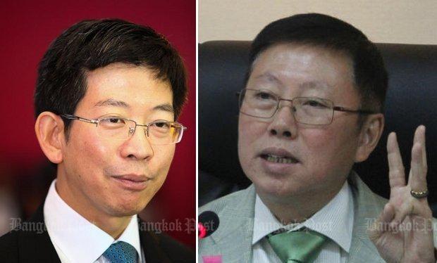 Ông Kobsak Phutrakul (trái) và ông Borwornsak Uwanno: Cần cuộc cải cách pháp luật mạnh mẽ để thúc đẩy Thailand 4.0 (Ảnh tư liệu: Bangkok Post)