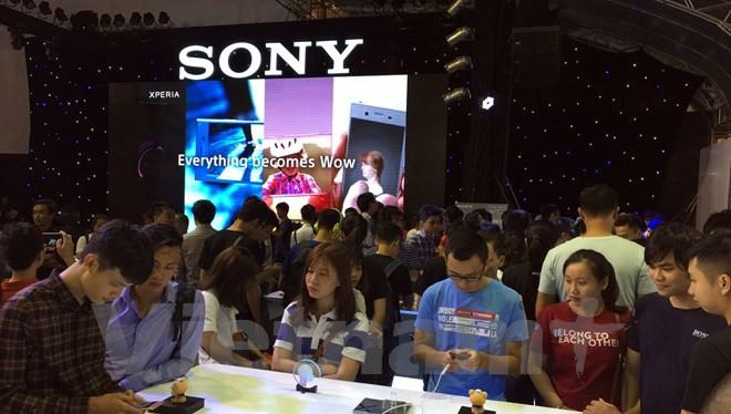 Khu vực trải nghiệm những chiếc smartphone mới nhất của Sony