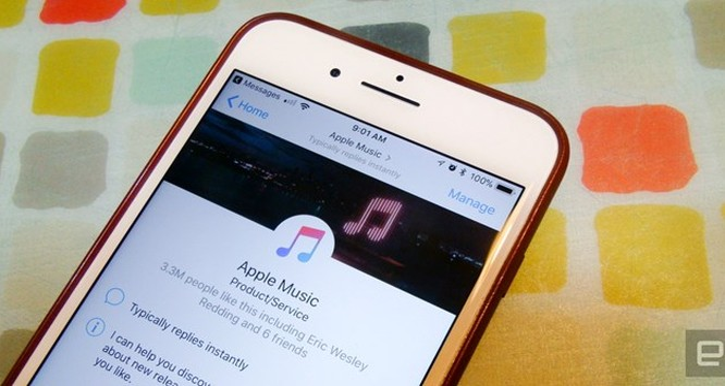 Giao diện Apple Music