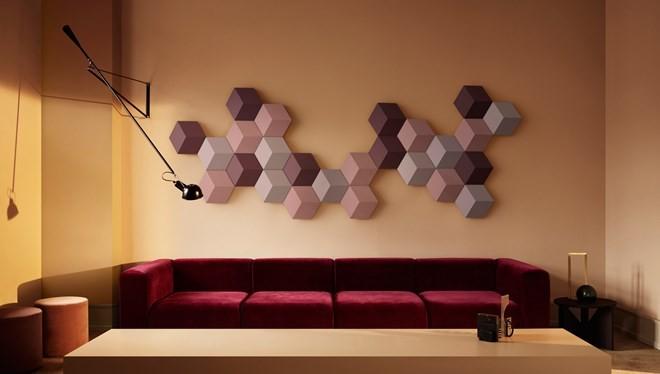 Hệ thống loa treo tường có hình dạng độc đáo cho phép người dùng tự lắp ghép theo sở thích.