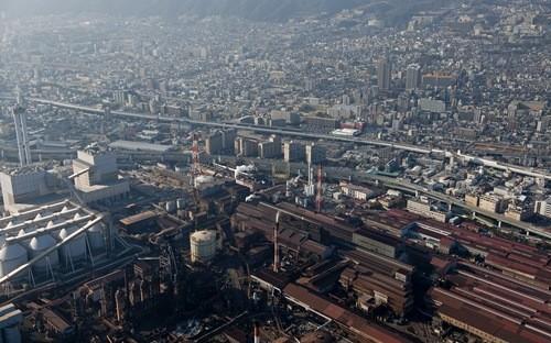 Nhà máy của Kobe Steel ở Hyogo, Nhât Bản - Ảnh: Getty/Bloomberg.