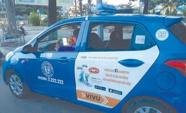 Taxi sử dụng App Vivu tại Cà Mau
