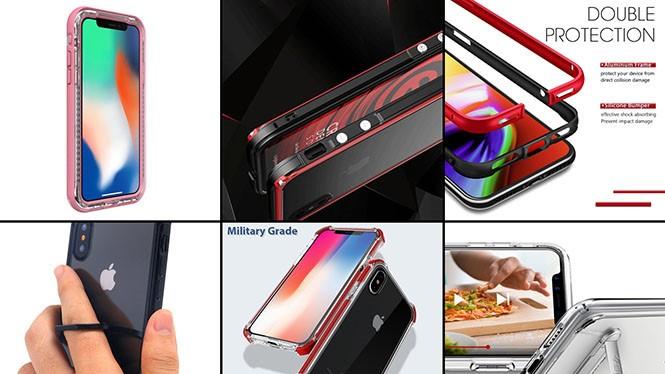 Có khá nhiều mẫu vỏ bảo vệ khác nhau dành cho chiếc iPhone X đắt giá FACEBOOK chia sẻ GOOGLE+ TWITT