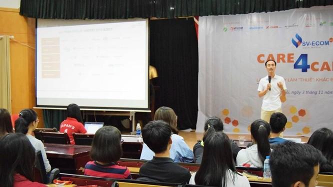 Buổi tọa đàm thu hút gần 200 sinh viên đến từ trường Đại học Ngoại thương Hà Nội