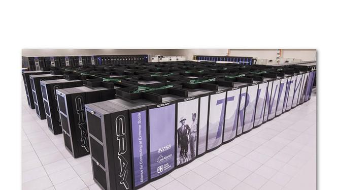 Siêu máy tính Trinity mạnh thứ 7 thế giới của Mỹ chuyên phục vụ tính toán cho các vụ thử hạt nhân.