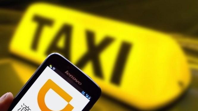 Giao diện ứng dụng gọi taxi Didi Chuxing